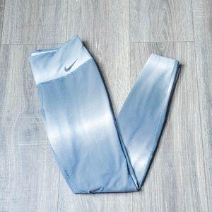 Gray / White Striped Dri-Fit Nike Leggings - Women
